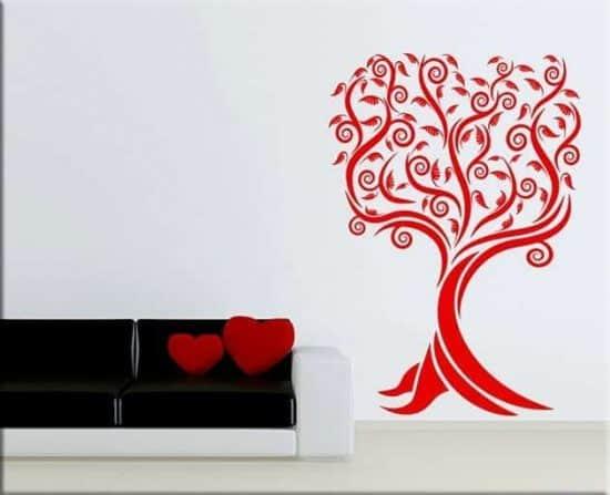 decorazioni adesive murali albero stilizzato