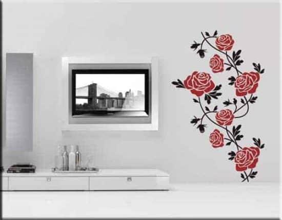 decorazioni adesive murali fiori rose arredo design