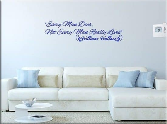 decorazioni adesive murali frase william wallace