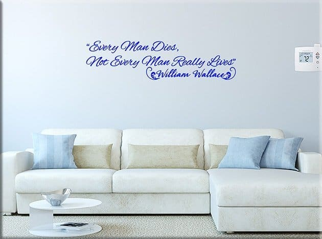 decorazioni adesive murali frase william wallace