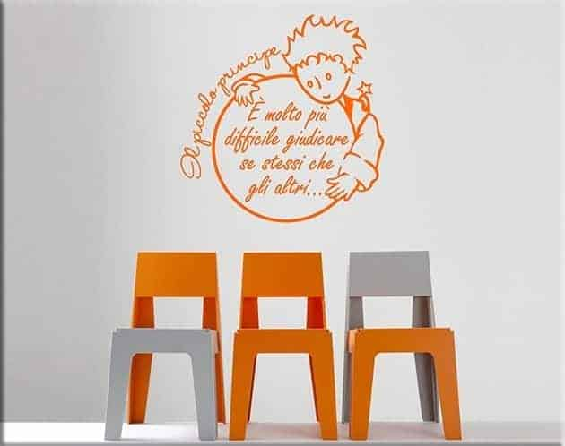 decorazioni adesive murali frase il piccolo principe