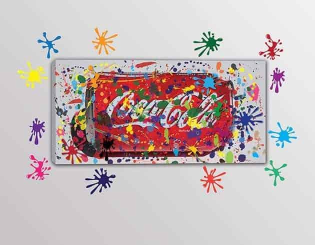 quadro moderno con adesivi murali arredo bar