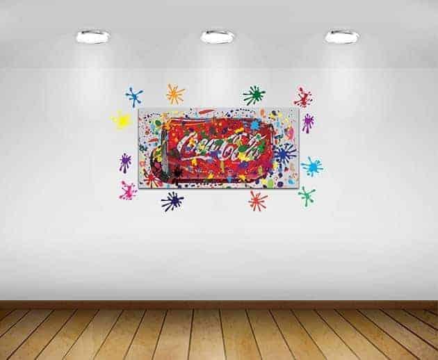 quadro moderno e adesivi murali arredo bar
