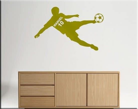 wall sticker calciatore personalizzato