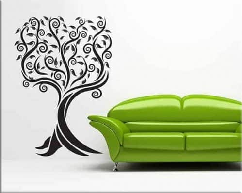 wall stickers albero stilizzato