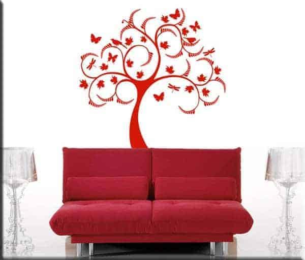 wall stickers albero stilizzato design