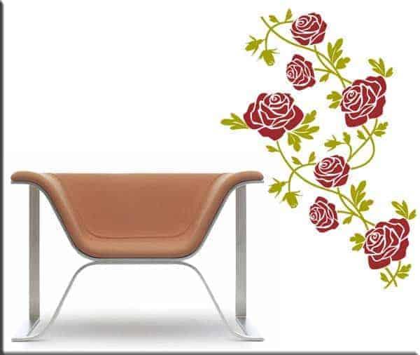 wall stickers fiori rose arredo floreale