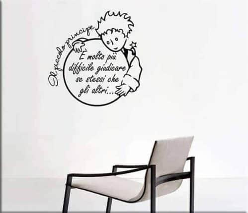wall stickers frase il piccolo principe arredo