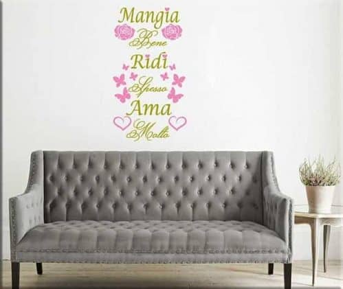 wall stickers frase stile shabby chic