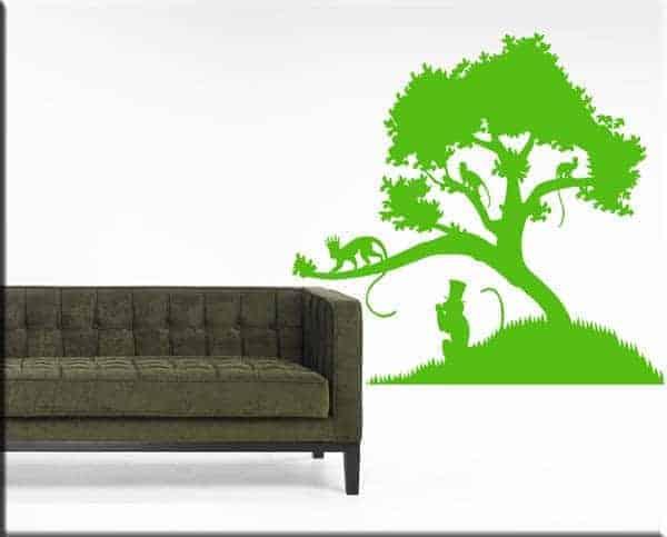 adesivi-da-parete-albero-scimmie-arredo-natura