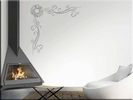 adesivi da parete angolo fiore arredo design