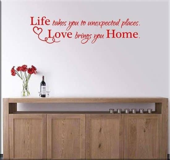 adesivi da parete frase casa amore home arredo