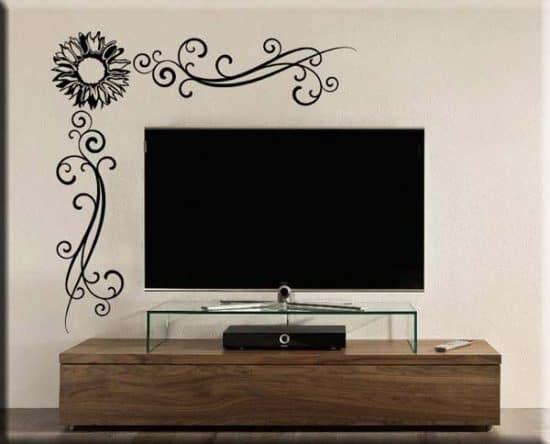 adesivi murali angolo fiore arredo design