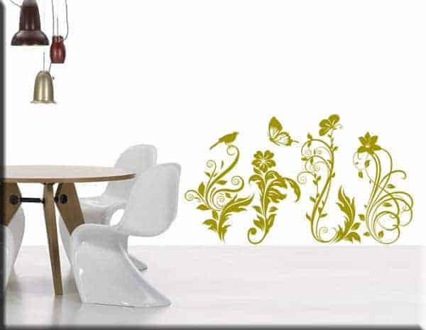adesivi murali decorazioni floreali arredo
