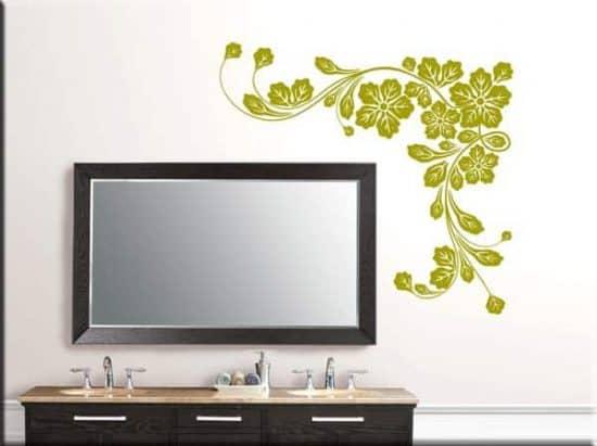 adesivi murali fiori angolo design arredo