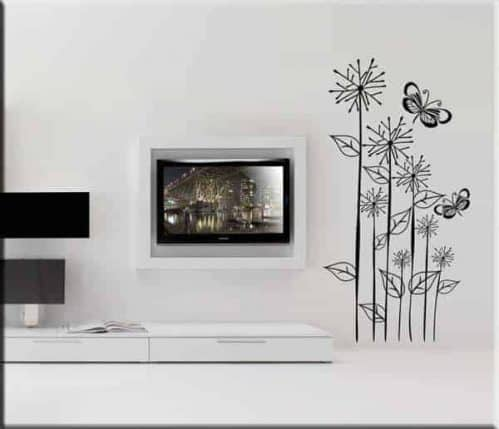 adesivi murali fiori farfalle design arredo