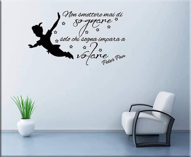 adesivi murali  ADESIVI MURALI FRASE PETER PAN ARREDO|Arredi Murali