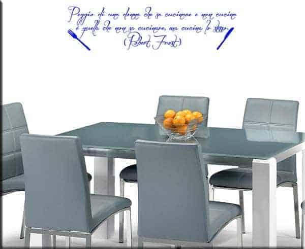 Adesivi murali frase Robert Frost cucina