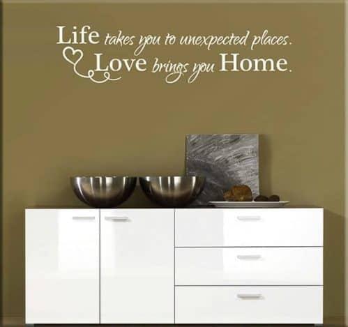 adesivi murali frase amore home casa arredo