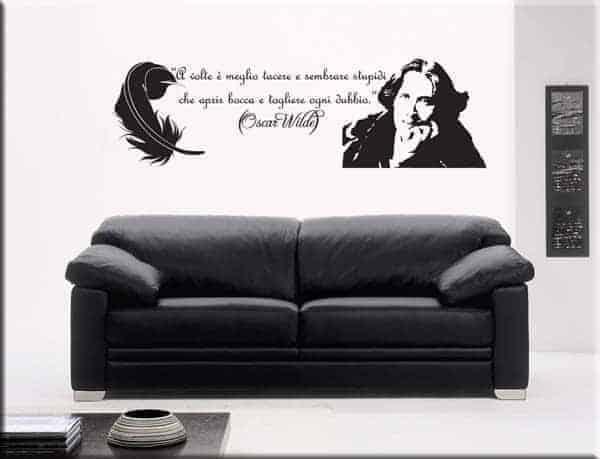 adesivi murali frase citazione oscar wilde