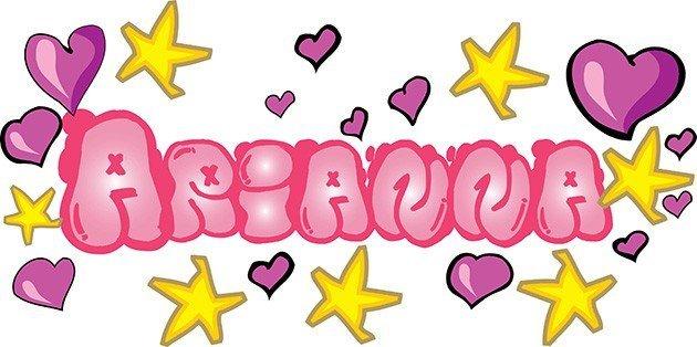 decorazione da parete graffito nome personalizzato rosa