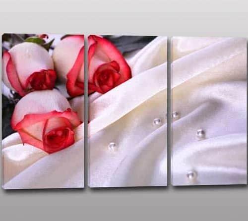 quadri moderni fiori rose stampa arredo