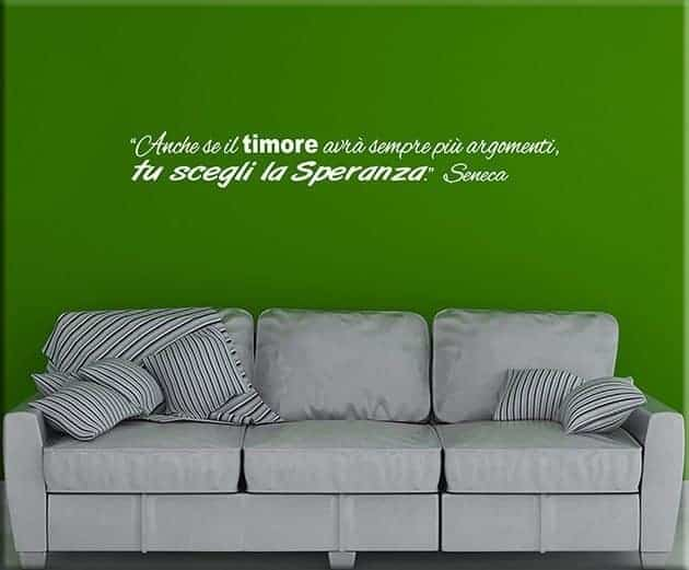 adesivi da parete frase citazione Seneca arredo
