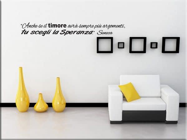 adesivi murali frase citazione seneca arredo