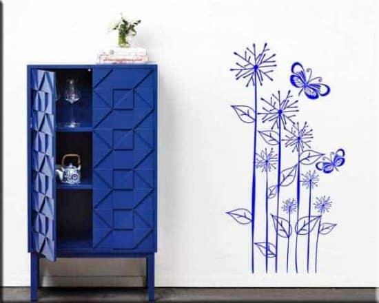 decorazioni adesive murali fiori farfalle design arredo