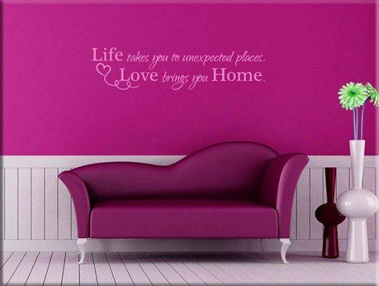 decorazioni adesive murali frase casa home arredo