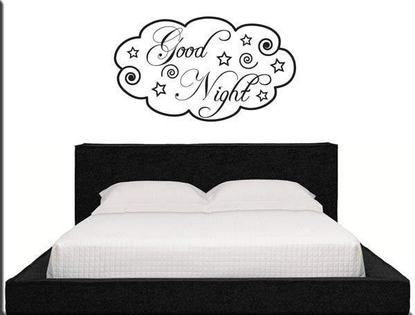 decorazioni adesive murali good night arredo letto