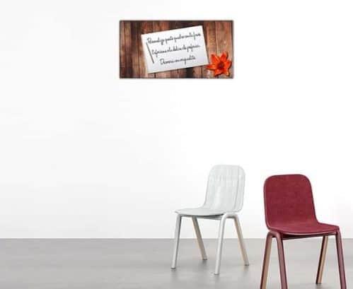 quadro moderno con frase personalizzata stampa