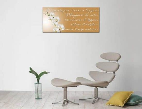 quadro moderno con stampa frase personalizzata