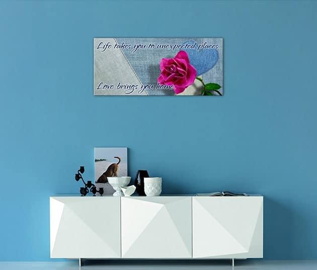 quadro moderno frase personalizzata stampa tela