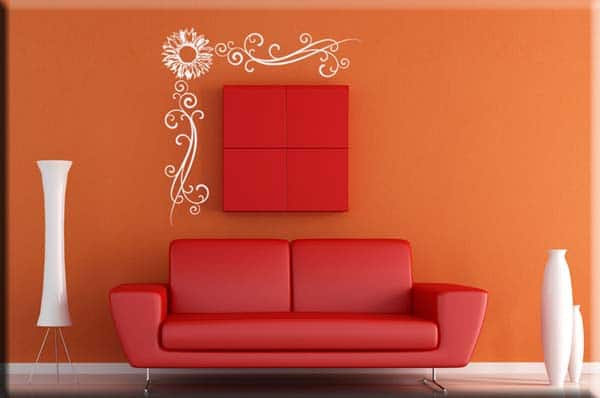 wall stickers angolo fiore arredo design