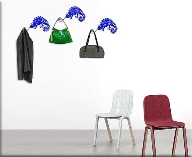 wall stickers camaleonti appendiabiti arredo