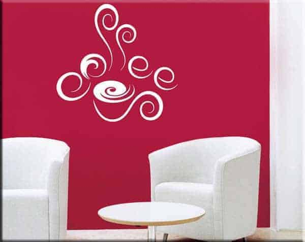 wall stickers coffee bar caffe arredo design