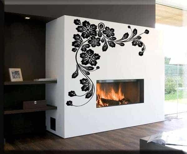 wall stickers fiori angolo design arredo