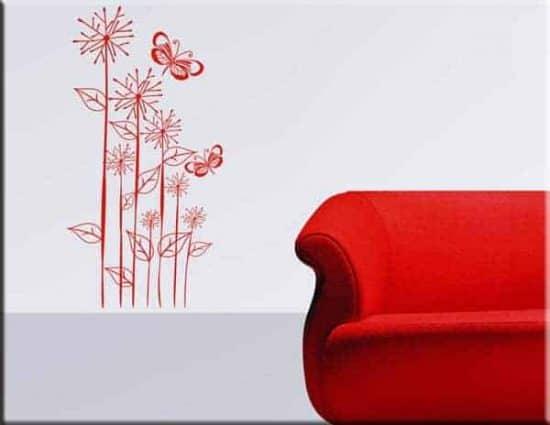 wall stickers fiori farfalle design arredo