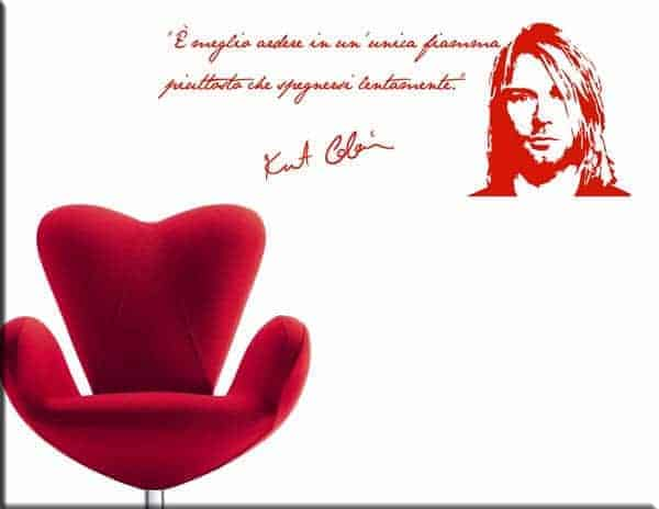 wall stickers frase kurt cobain arredo