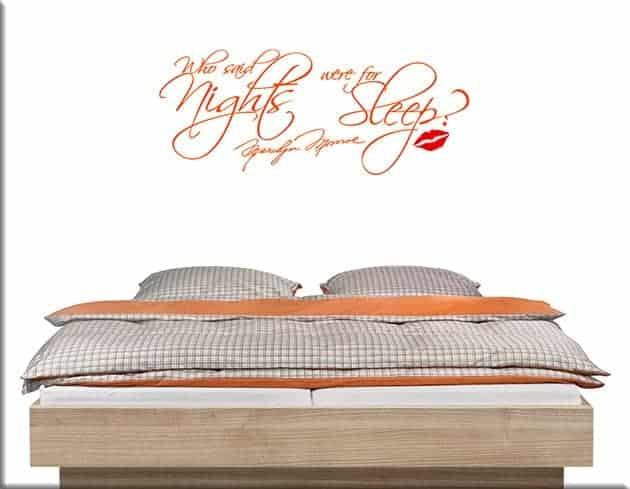 wall stickers frase marilyn monroe letto