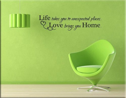 wall stickers frase casa home amore arredo