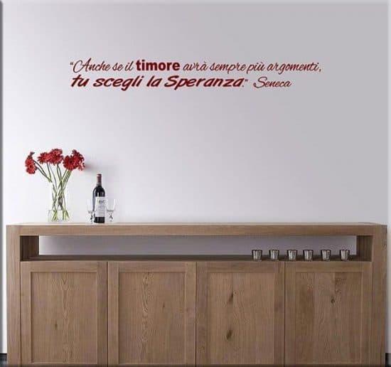 wall stickers frase citazione seneca arredo