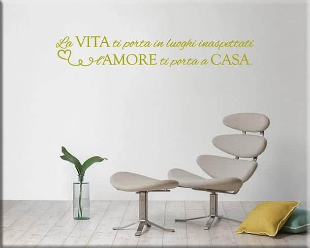 wall stickers frase vita amore