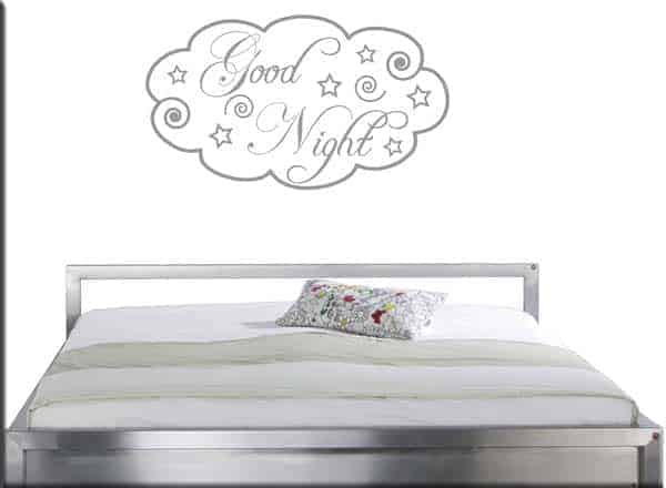 wall stickers good night arredo letto