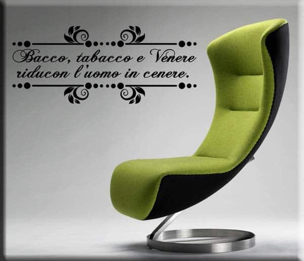 wall stickers proverbio bacco tabacco venere