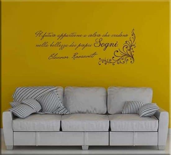 Adesivi da parete frase Eleanor Roosevelt