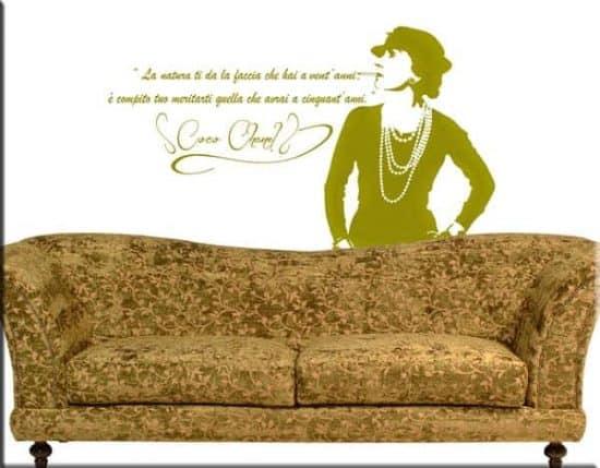 adesivi da parete frase citazione coco chanel