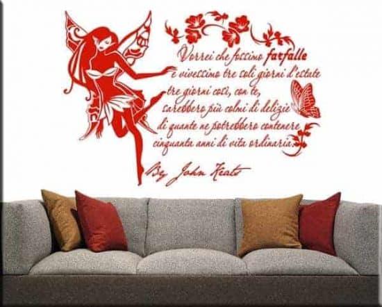 adesivi da parete frase citazione john keats