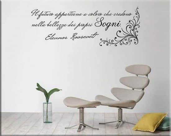 adesivi murali citazione eleanor roosevelt